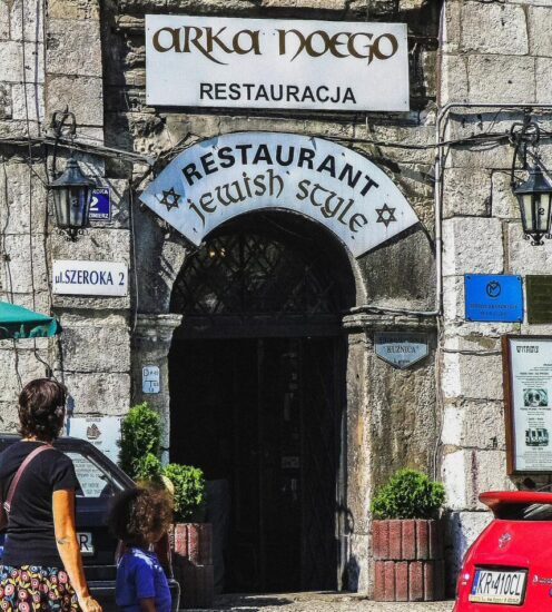 Restaurante en el Barrio Judío de Cracovia