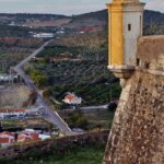 Rincón de la fortificación de Elvas en Alentejo Portugal
