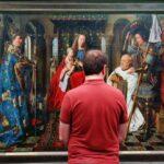 Pintura de Van Eyck en museo Groeninge de Brujas