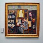 Pintura flamenca del siglo XX en museo Groeninge en Brujas