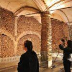 Capilla de los Huesos en Evora en la región del Alentejo de Portugal
