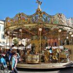 Feria en la plaza de la República de Perpiñán