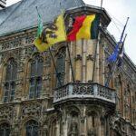 Rincón del Ayuntamiento de Gante en Flandes en Bélgica