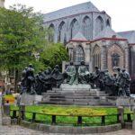 Monumento a los hermanos Van Eyk en Gante en Bélgica
