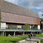 Moderno edificio del Pabellón Municipal de Gante en Bélgica