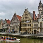 Graslei, muelle de las Hierbas en Gante en Bélgica