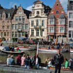 Muelle Korenlei en Gante en Flandes Bélgica