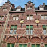 Fachada del hotel Marriot en el muelle Korenlei en Gante