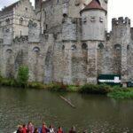 Castillo de los Condes en el centro de Gante en Bélgica