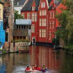 Rincón de un canal de Gante en Flandes Bélgica