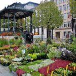 Mercado de flores en Gante en Flandes Bélgica