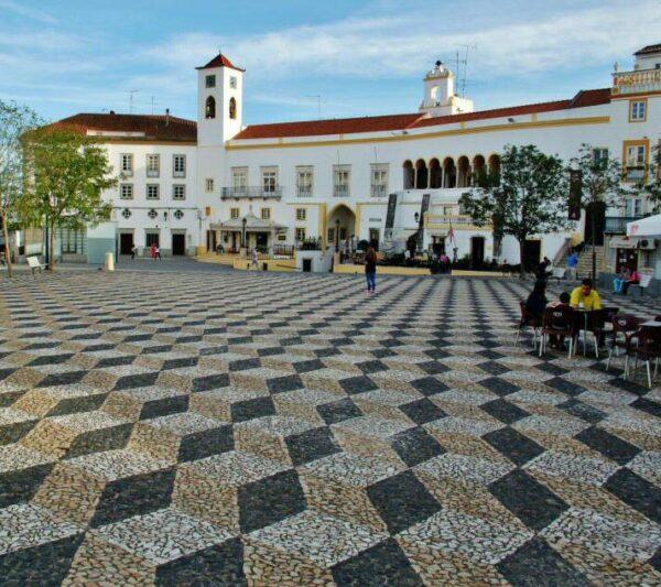 Plaza de la República en Elvas en Alentejo Portugal