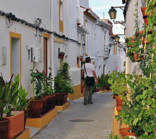 Rincón del centro histórico de Elvas en Alentejo en Portugal