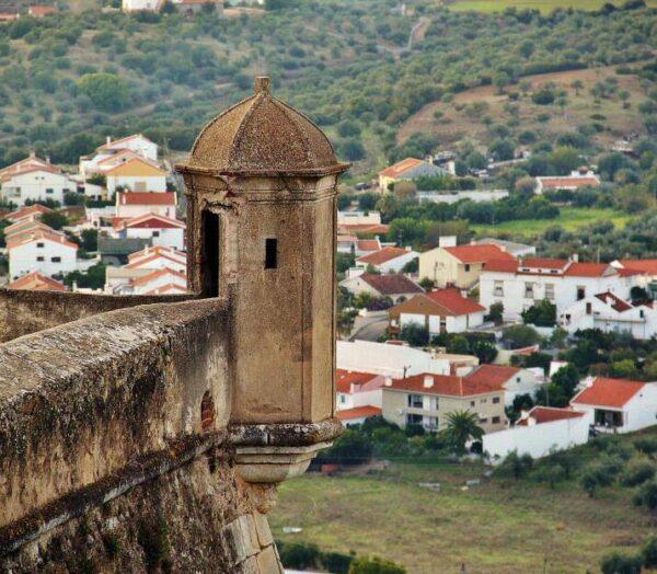 Fortificación de Elvas en Alentejo en Portugal