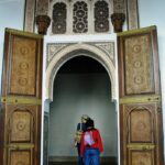 Arquitectura marroquí en el palacio de la Bahía de Marrakech