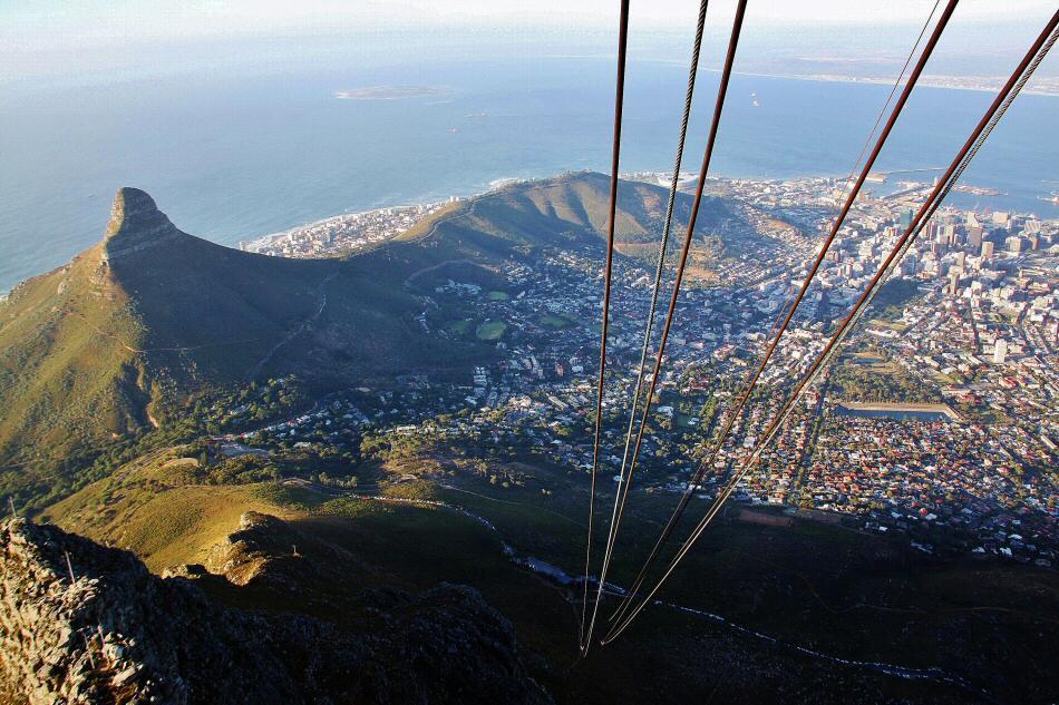 Vistas de Ciudad del Cabo desde Table Mountain