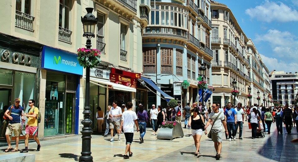 Calle Larios en el centro de Málaga