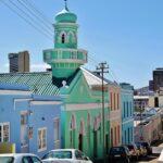Mezquita en barrio malayo de Bo-Kaap en Ciudad del Cabo