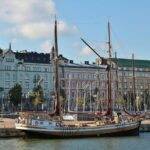 Vistas desde el crucero por el archipiélago de Helsinki