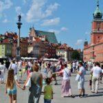 Plaza Zamkowy en la Ruta Real de Varsovia