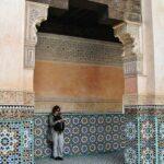 Madraza Ben Youssef en la medina de Marrakech en Marruecos