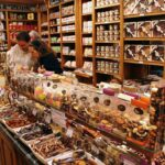Tienda de galletas y chocolates en Brujas