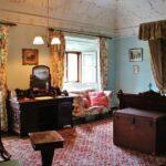 Dormitorio de Westport House en el condado de Mayo al oeste de Irlanda
