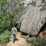 Cabaña dormitorio en lodge Cheetah Plains en parque Kruger en Sudáfrica