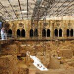 Excavaciones arqueológicas en el claustro de la catedral Sé de Lisboa