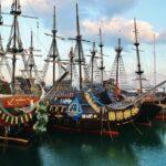 Barcos para paseos turísticos en Hammamet Yasmine en Túnez
