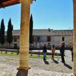 Latetal porticado de la iglesia mozárabe de Wamba en Valladolid