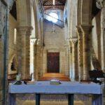 Nave central de la iglesia mozárabe de Wamba en Valladolid