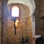 Capilla en la iglesia mozárabe de Wamba en Valladolid
