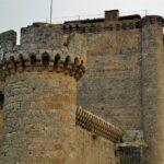 Torres del castillo de Villafuerte de Esgueva en Valladolid