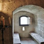 Interior del castillo de Villafuerte de Esgueva en Valladolid
