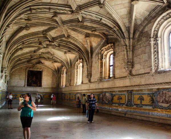 Refectorio del Claustro del Monasterio de los Jerónimos de Belem en Lisboa