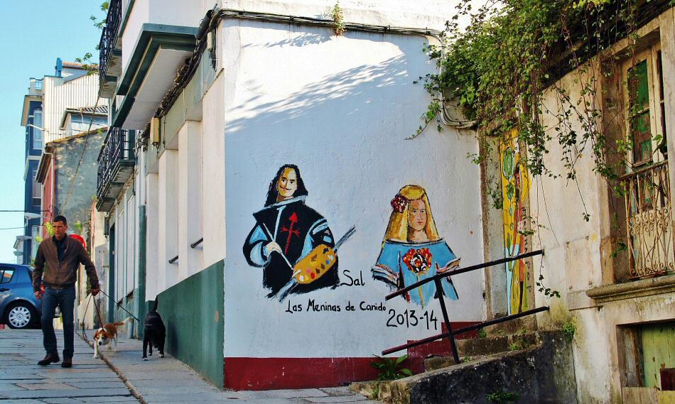 Ruta de las Meninas en el barrio de Canido en Ferrol en Galicia