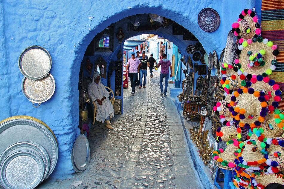 Rincón de Chefchaouen al norte de Marruecos