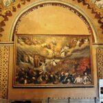 Pintura del Juicio Final en la iglesia de la Compañía en Quito