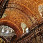 Techo decorado con pan de oro en la iglesia de la Compañía en Quito
