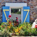 Rincón de la aldea de Kervilaouen en Belle-Ile en Bretaña
