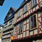 Casas entramadas en Quimper en Bretaña