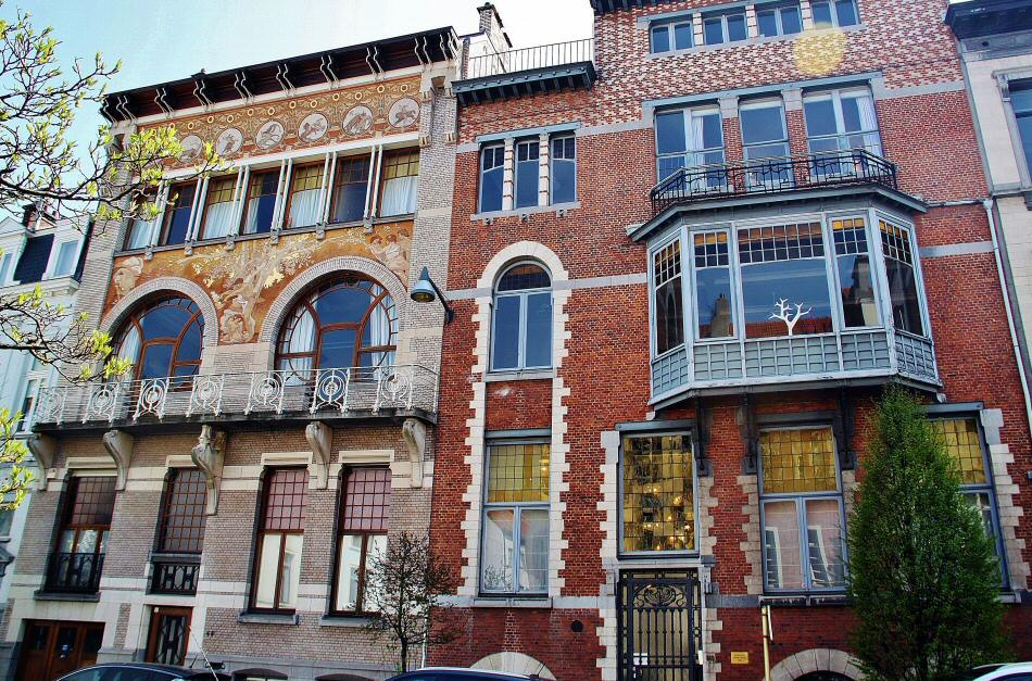 Edificios Art Noveau en Bruselas en Bélgica