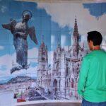 Interior del monumento de la Virgen de Quito en El Panecillo