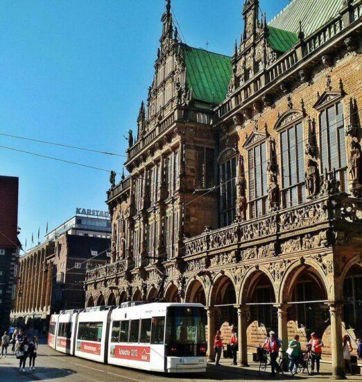 Ayuntamiento de Bremen en la plaza del Mercado al norte de