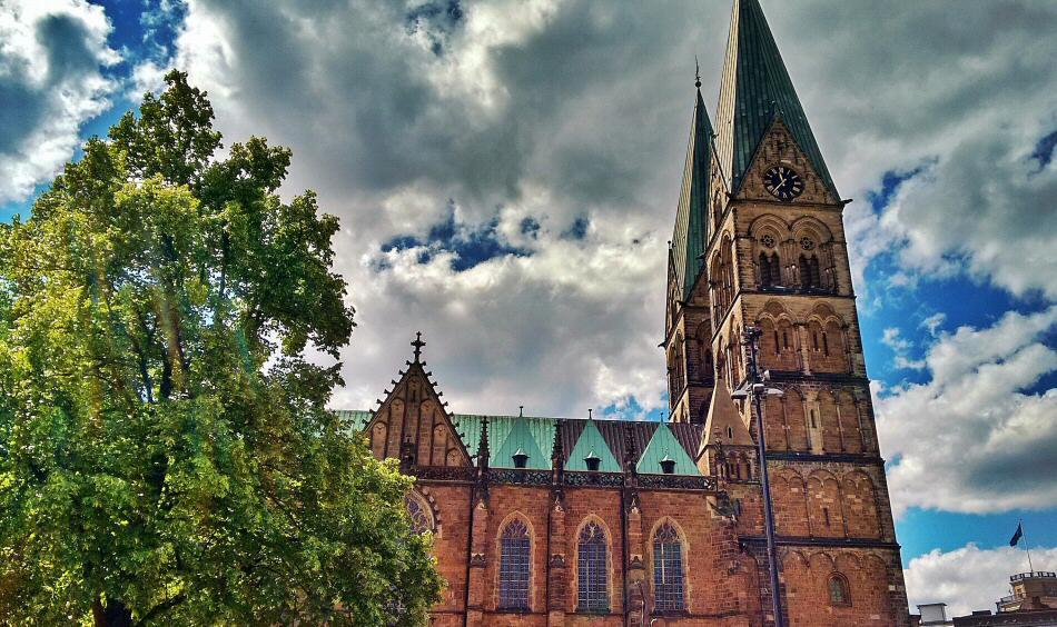 Catedral de San Pedro en Bremen al norte de Alemania
