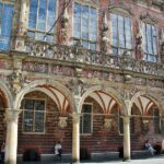 Fachada renacentista del antiguo ayuntamiento de Bremen
