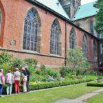 Claustro de la catedral de San Pedro en Bremen al norte de Alemania