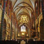 Nave central de la catedral de Bremen al norte de Alemania
