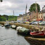 Puerto de Pont Aven en Bretaña al oeste de Francia
